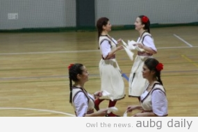 """Samodiva""'s performance. Stella Zlatareva for AUBG Daily."