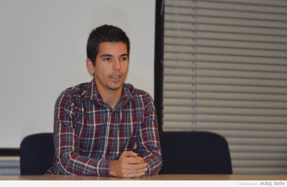 SG President Lyuben Popov / Credits Student Government