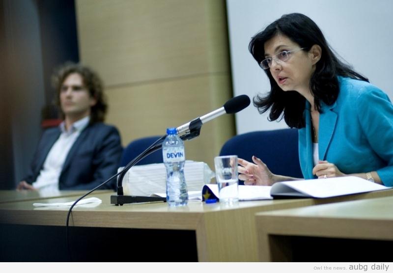 Meglena Kuneva talk in AUBG. Credits: aubg.edu