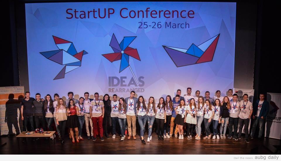 The StartUp@Blagoevgrad team; Dimitar Bratovanov for StartUp@Blagoevgrad