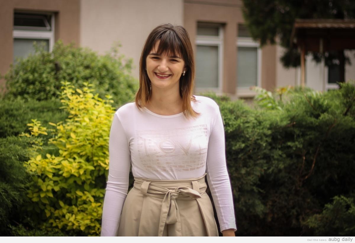 Katalina Dimitrova, Dimitar Bratovanov for AUBG Daily