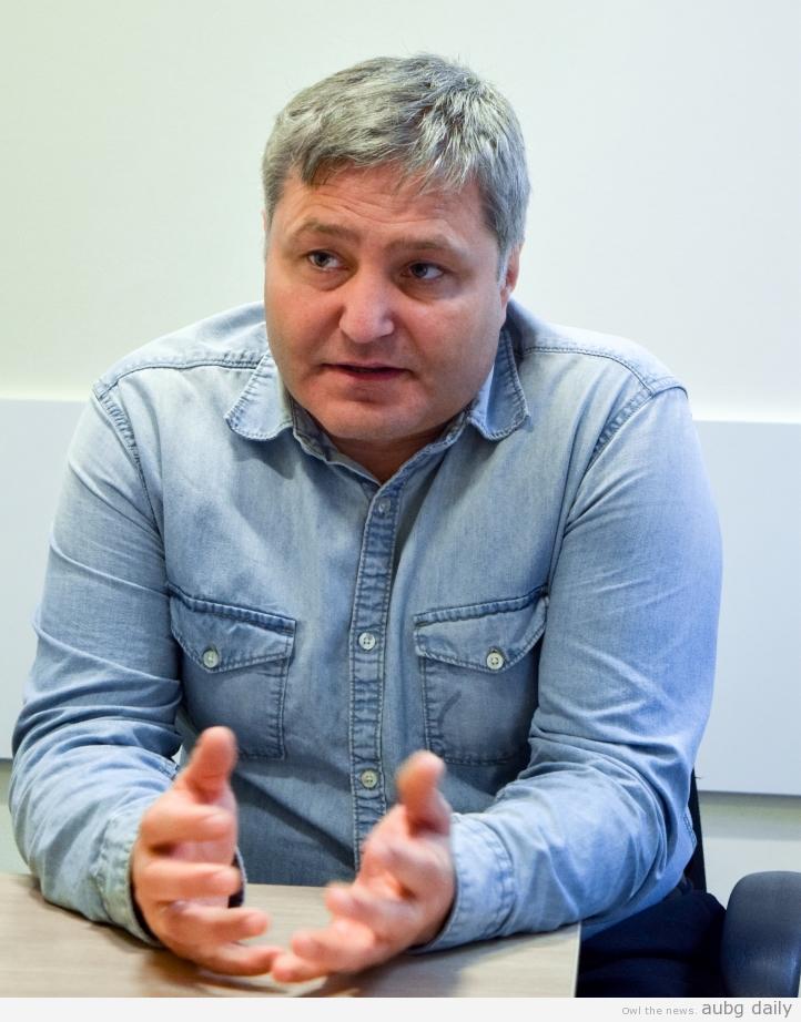 Prof. Kanev; Steliyana Yordanova for AUBG Daily