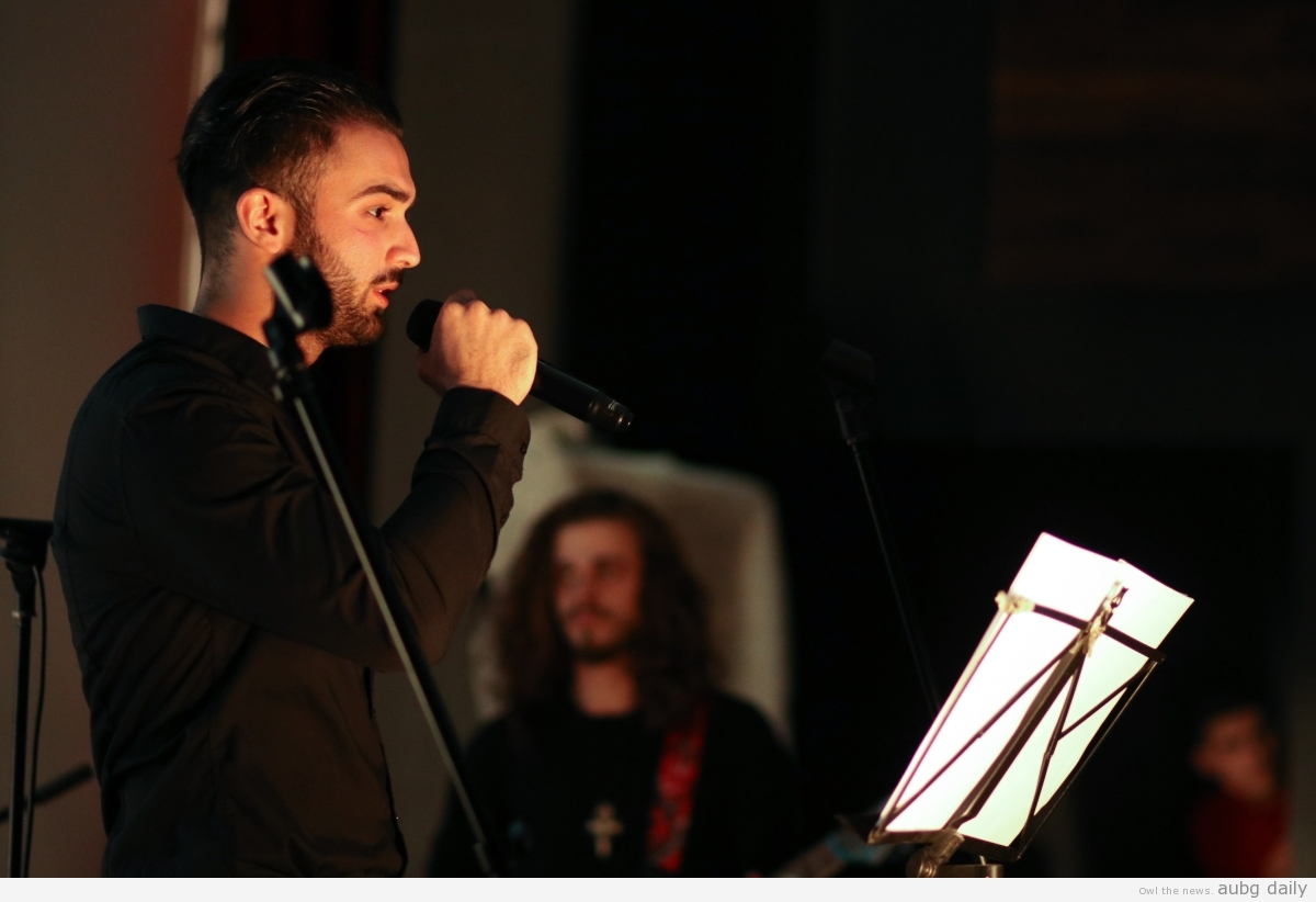 Brian Shkodrani performing at the concert, Dimitar Bratovanov for AUBG Daily