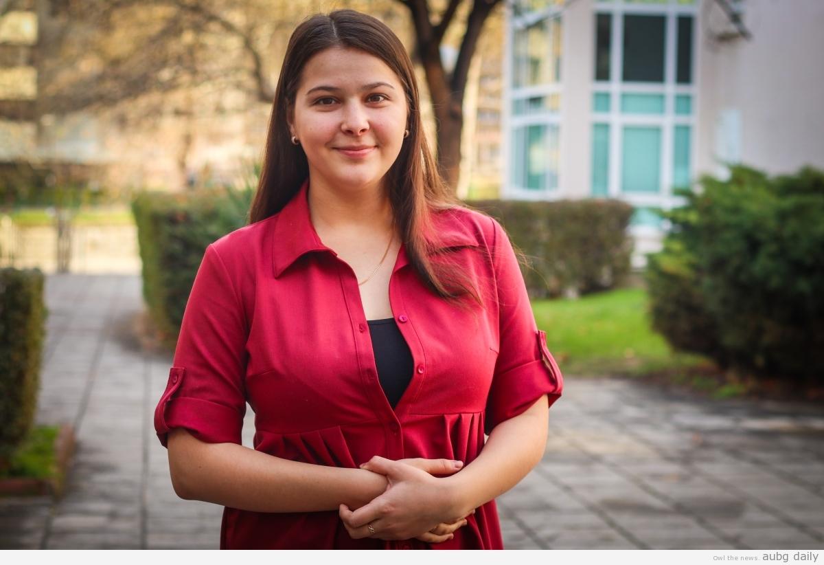 Anastasiia Agolli, Dimitar Bratovanov for AUBG Daily