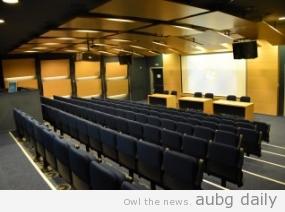 AUBG's Andrey Delchev auditorium, 168 seats; Kezim Baldzhiev for AUBG Daily