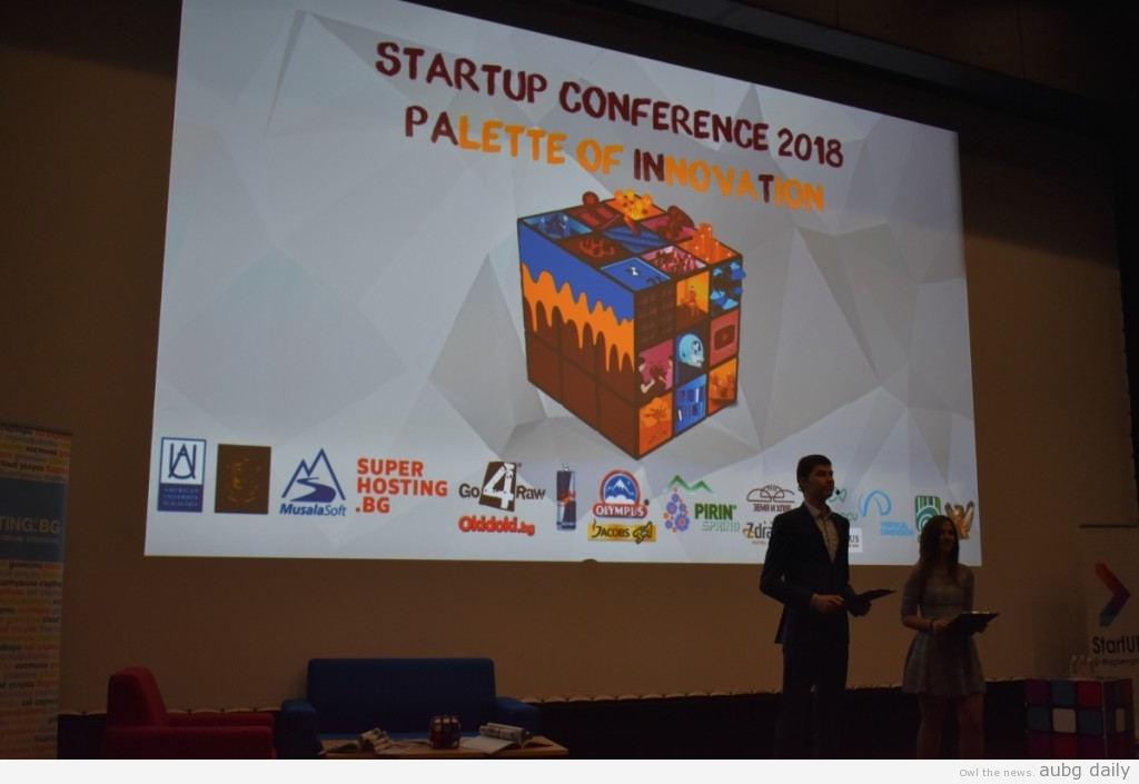 The opening ceremony of StartUP Conference 2018; Georgi Dobrev for AUBG Daily