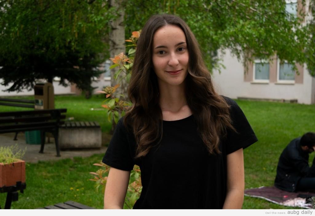 Aleksandra Kisova; Steliyana Yordanova for AUBG Daily